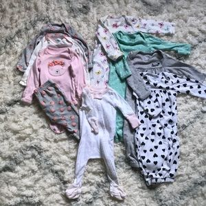 Carters Girls Newborn Lot
